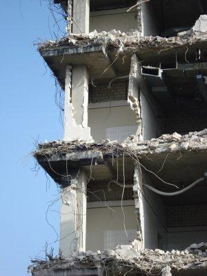 Demolished - imploded - gone